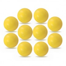 Lot de 10 balles Roberto Sport plastique jaunes
