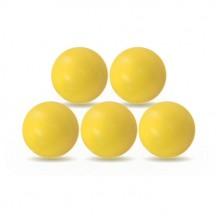 Lot de 5 balles Roberto Sport plastique jaunes