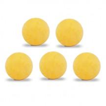 Lot de 5 balles Roberto Sport ITSF démarquées jaunes
