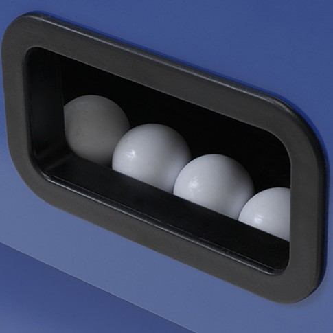 Babyfoot gris bleu balles blanches