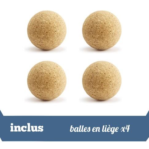 Pack 4 balles liege