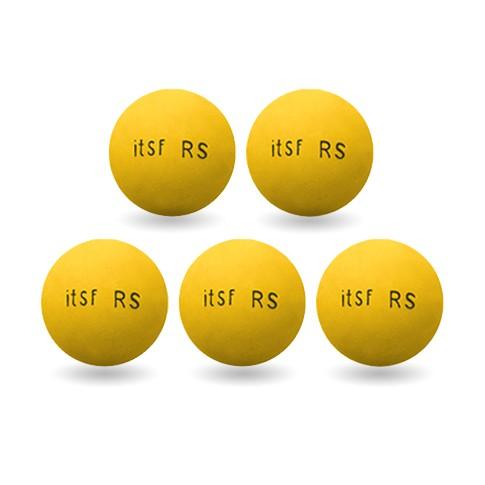 balle roberto sport itsf jaune lot de 5 testez les. Black Bedroom Furniture Sets. Home Design Ideas