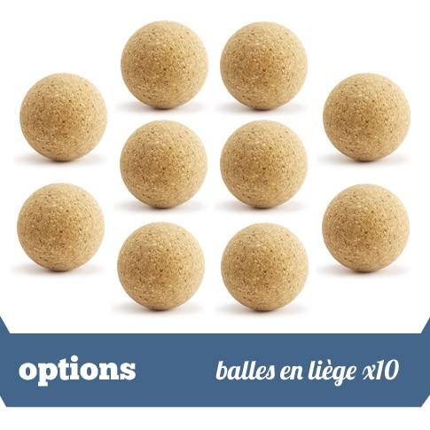 Pack 10 balles liege