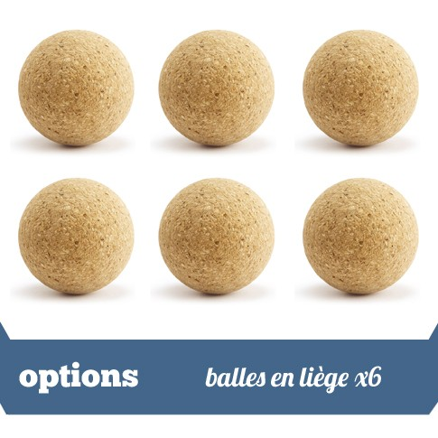 Pack 6 balles liege