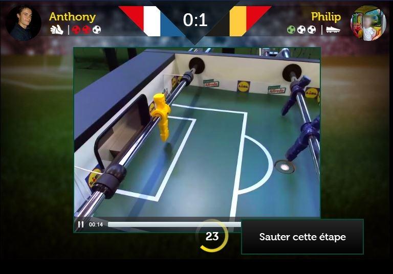 baby foot virtuel