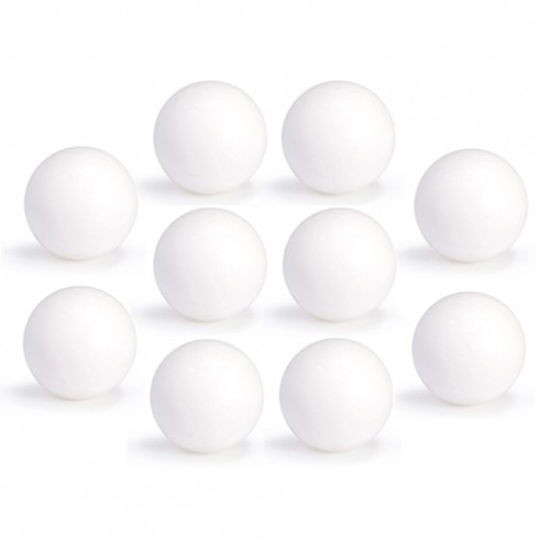 Pack 10 balles blanches plastique roberto sport