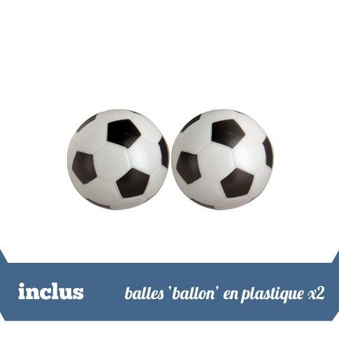 Pack 2 balles 'ballon' en plastique