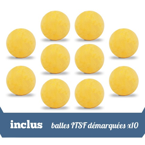 Pack 10 balles ITSF demarquees