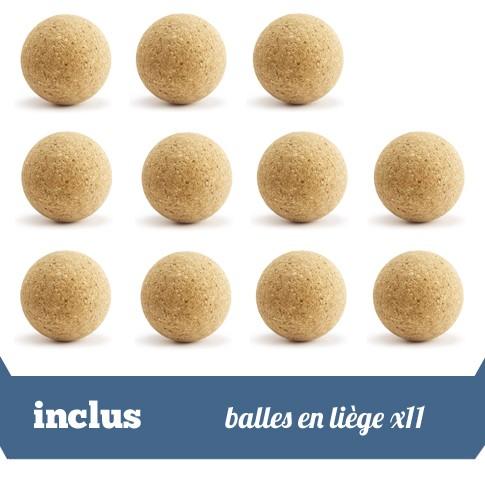 pack 11 balles en liege