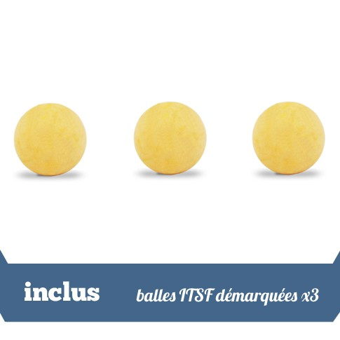 Pack 3 balles ITSF demarquees