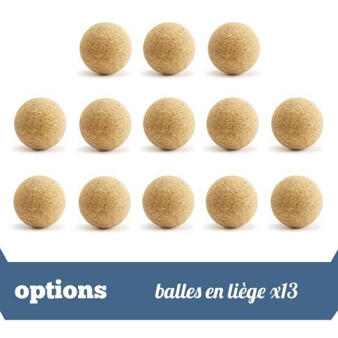 Pack 13 balles liege