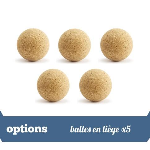 Pack 5 balles liege