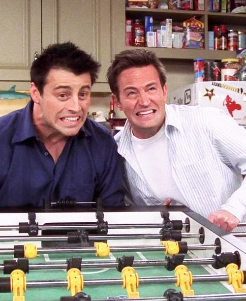 baby foot de Joey et Chandler dans Friends