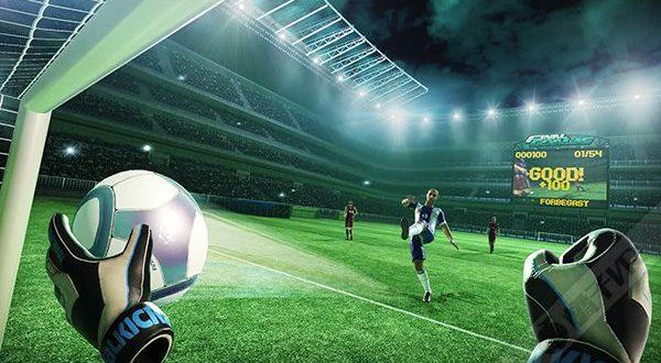 entraînement de football en réalité virtuelle