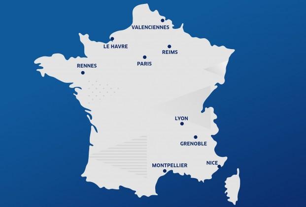 villes hôtes de la Coupe du Monde 2019